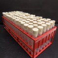 90x (75mmx13mm) 5 ML PP Tubes with corks and tray